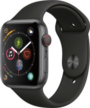 ihocon: Apple Watch Series 4 (GPS + Cellular) 44mm Space Gray Aluminum Case with Black Sport Band