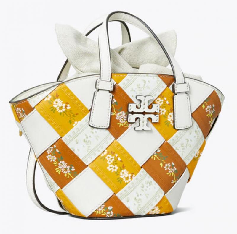 ihocon: McGraw Floral Woven Mini Shopper Tote 包包