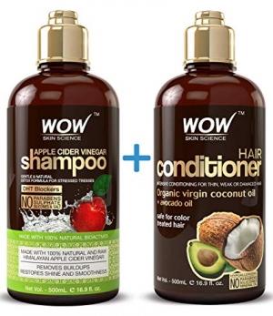 [今日特賣] WOW 蘋果醋洗髮精和護髮乳 $19.90(原價$34.99)