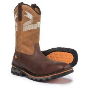 ihocon: Timberland PRO AG Boss Embroidered Soft Toe Work Boots - Waterproof, Square Toe (For Men) 防水男靴