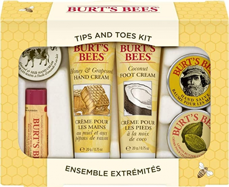 ihocon: Burt's Bees Tips and Toes Kit Gift Set, 6 Travel Size Products 保養禮盒