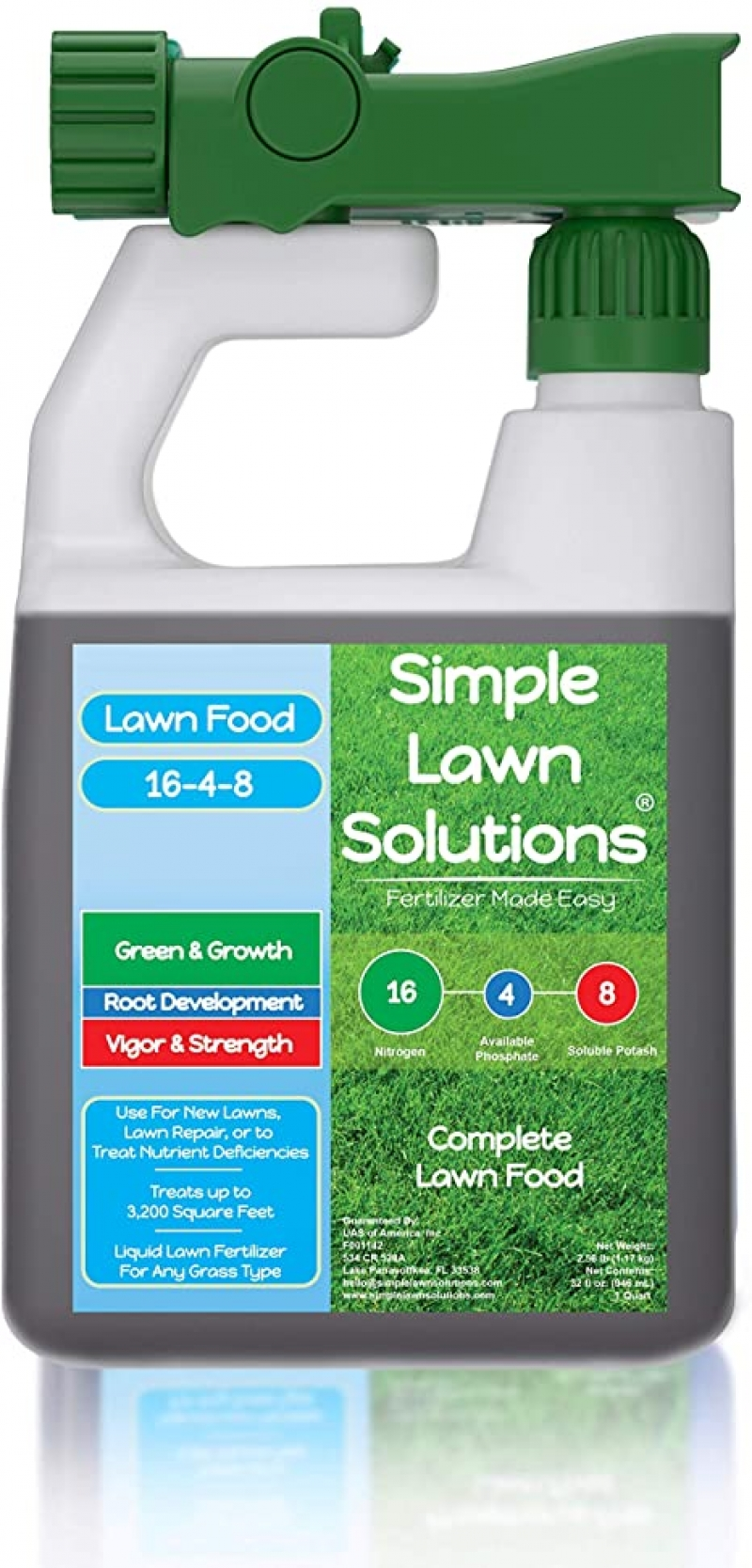 ihocon: Simple Lawn Solutions Advanced 16-4-8 Balanced NPK - Lawn Food (32 Ounce) 草地肥料
