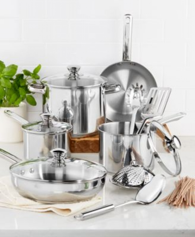 ihocon: Tools of the Trade Stainless Steel 13-Pc. Cookware Set 不銹鋼鍋組