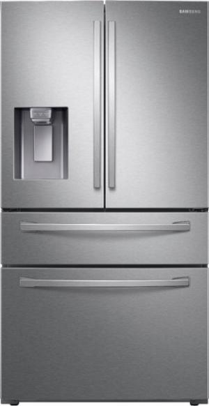 ihocon: Samsung 22.6 cu. ft. French Door Counter Depth Refrigerator 四門防指紋不銹鋼冰箱