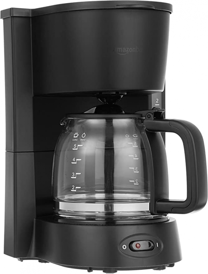 ihocon: Amazon Basics 5-Cup Coffeemaker with Glass Carafe 咖啡機