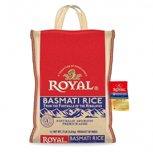 ihocon: Authentic Royal Royal Basmati Rice, 15-Pound Bag, White 印度香米