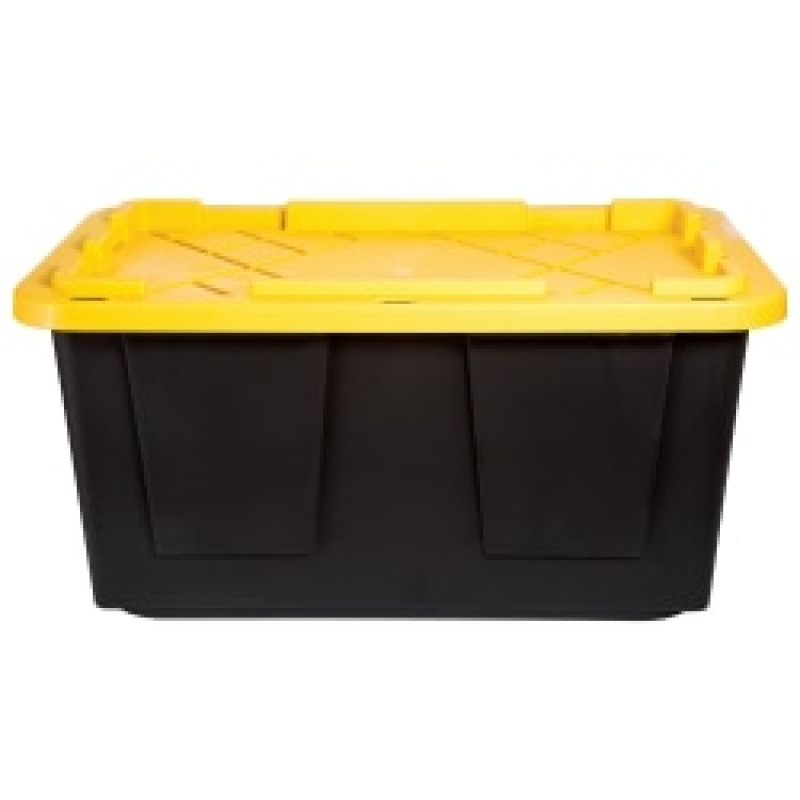 ihocon: GreenMade Poly Storage Tote With Built-In Handles And Snap Lid, 27 Gallons儲物收納箱