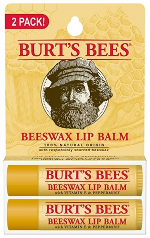 ihocon: Burts Bees 100% Natural Origin Moisturizing Lip Balm, Beeswax, 2 Tubes 護唇膏