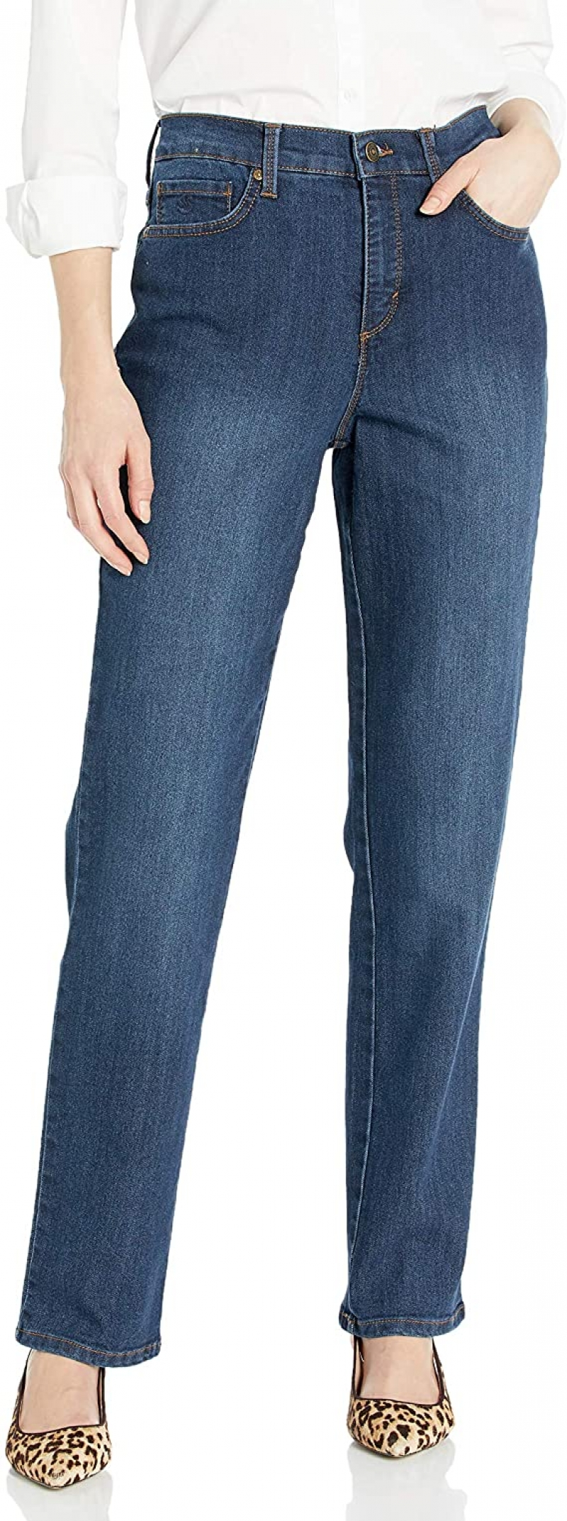 ihocon: Gloria Vanderbilt Women's Classic Amanda High Rise Tapered Jean  女士高腰牛仔褲