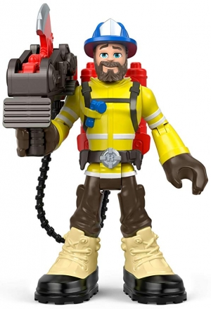 ihocon: Fisher-Price Rescue Heroes Forrest Fuego, 6-Inch Figure with Accessories 救援英雄公仔