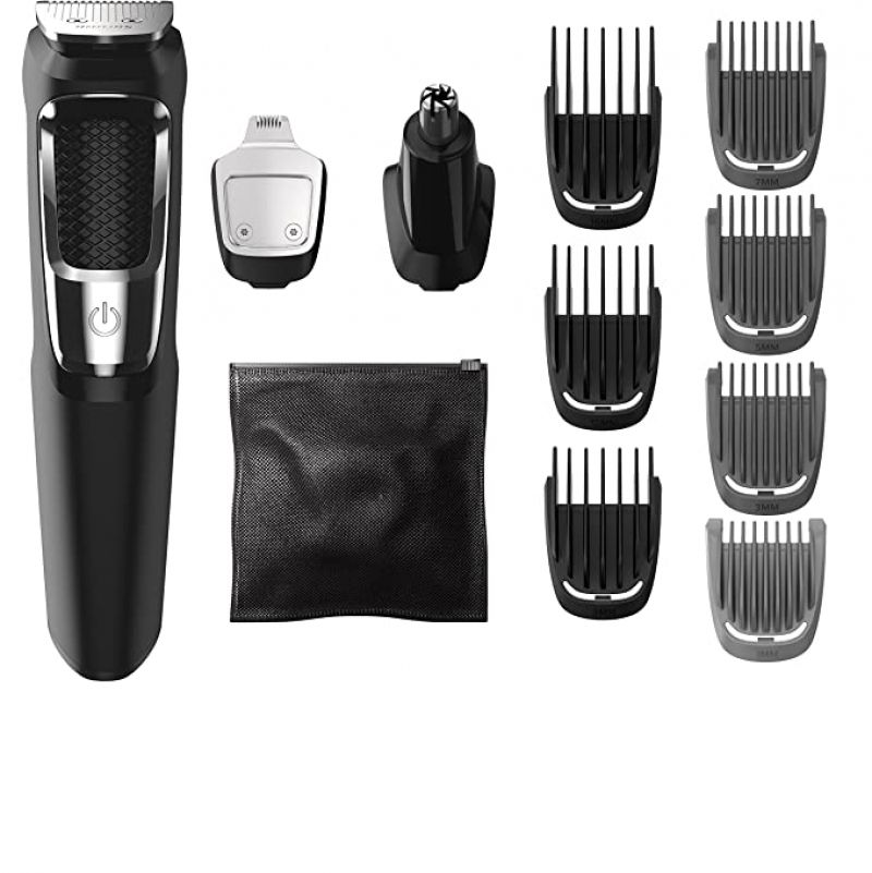 ihocon: Philips Norelco MG3750 Multigroom All-In-One Series 3000, 13 attachment trimmer 飛利浦電動理髮器