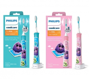 ihocon: Philips Sonicare HX6321/02 Sonicare for Kids Rechargeable Electric Toothbrush, Blue 飛利浦兒童電動牙刷