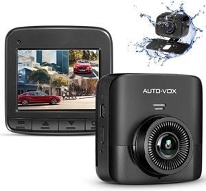 ihocon: AUTO-VOX D5PRO Dual Dash Cam, Built-in Super Capacitor,Two Ways Installation,140° Wide Angle, G-Sensor, Motion Detect and Parking Monitor 前後雙鏡頭行車記錄器