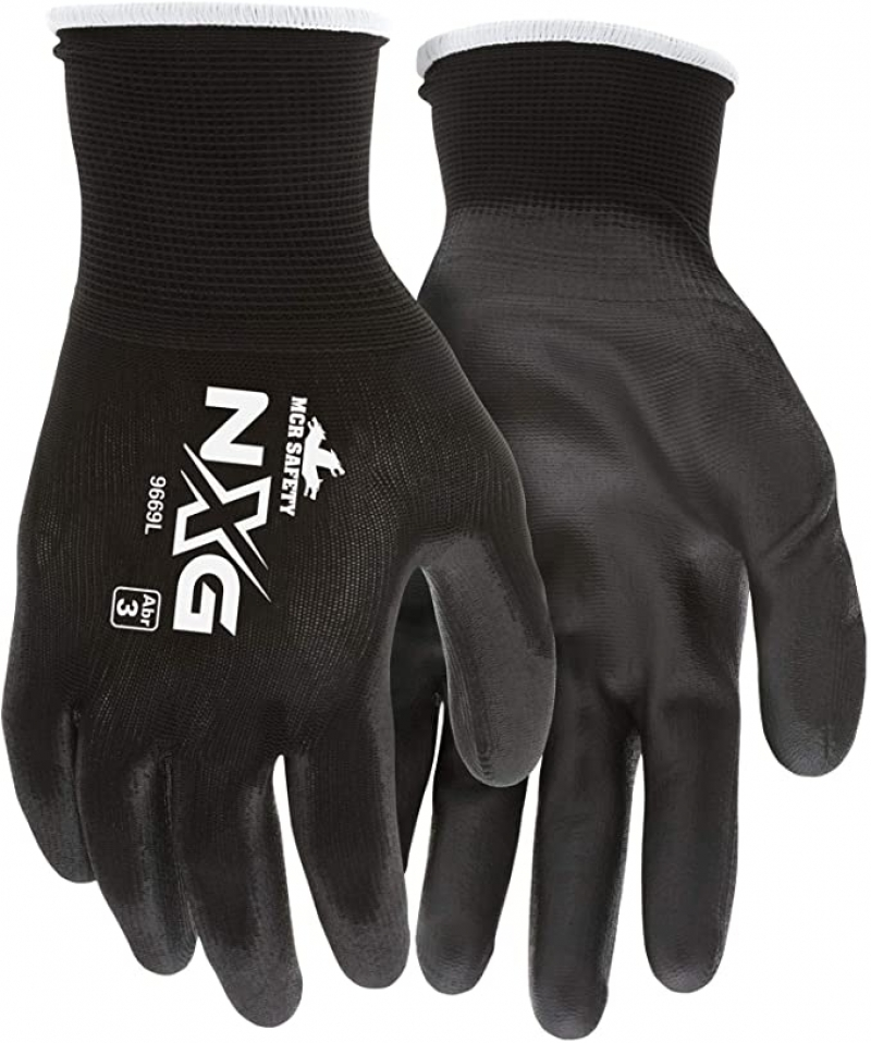 ihocon: MCR Safety Nylon Knitted Shell gloves, Large, 1-Pair 工作手套