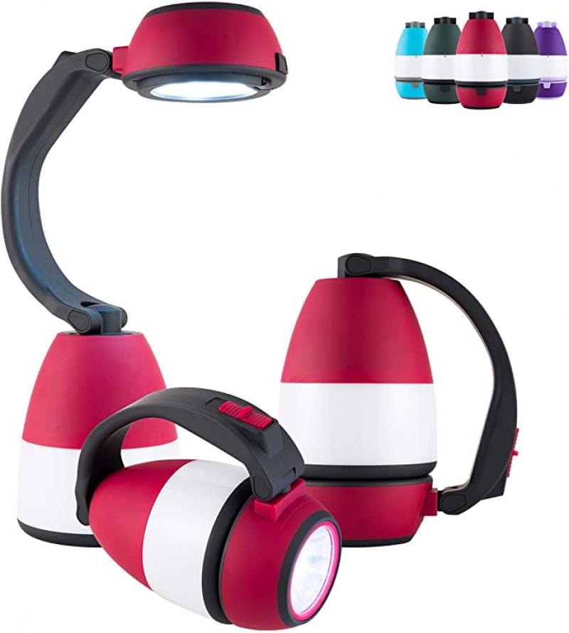 ihocon: Enbrighten Red 3合1 LED 200 Lumens 手電筒/桌燈/營燈 (使用電池)