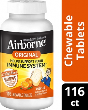 ihocon: Airborne Vitamin C 1000mg Citrus Chewable Tablets (116 count)免疫力增強嚼錠