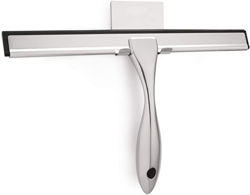 ihocon: HIWARE All-Purpose Shower Squeegee for Shower Doors 玻璃刮水器及固定架