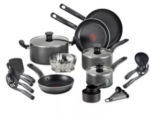 ihocon: T-Fal 18-Pc. Nonstick Cookware Set 不沾鍋組