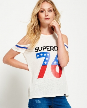 Superdry極度乾燥 女士露肩T-shirt $14.75(原價$29.50)