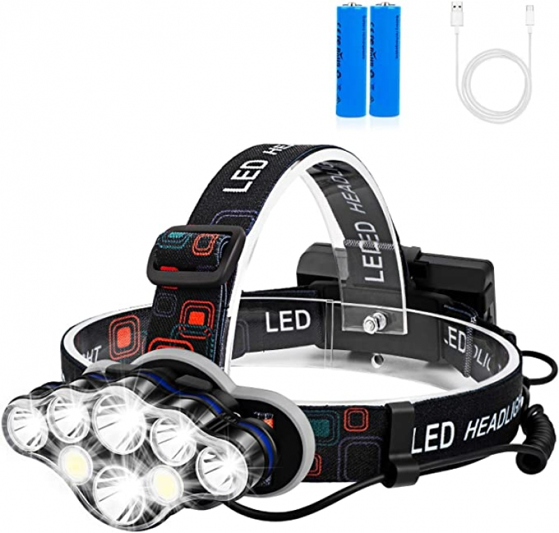 ihocon: Foxdott 8 LED Rechargeable Headlamp充電式頭燈