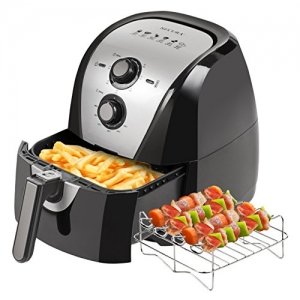 ihocon: Secura Electric Hot Air Fryer, 5.3Qt with accessories 大容量空氣炸鍋及串燒架