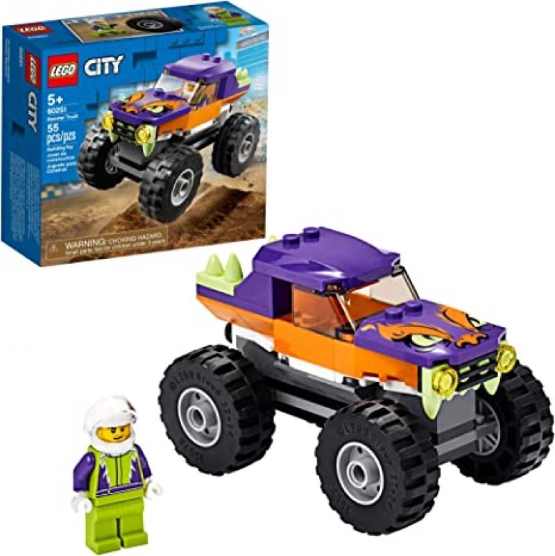 [2021新款]LEGO City Monster Truck 60251 (55 Pieces) $7.19(原價$9.99)