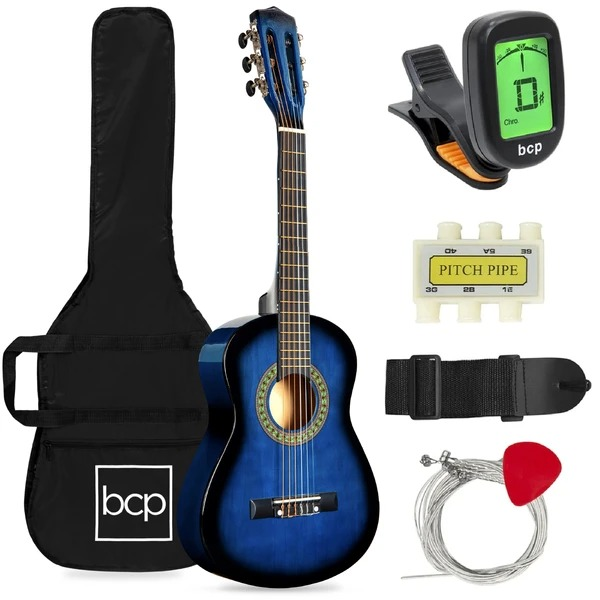 ihocon: Best Choice Products Best Choice Products Best Choice Products Kids Acoustic Guitar Beginner Starter Kit with Carrying Case - 30in 兒童吉他初學者入門套件