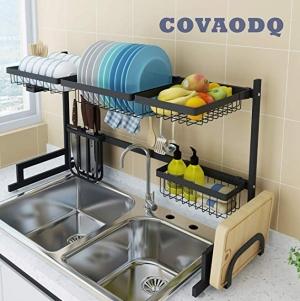 ihocon: Covadq Over-Sink Dish Drying Rack廚房水槽碗盤架