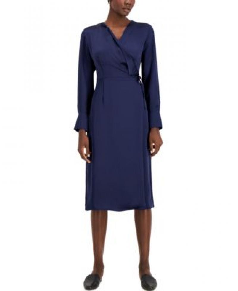 ihocon: Alfani Faux-Wrap Dress女士洋裝