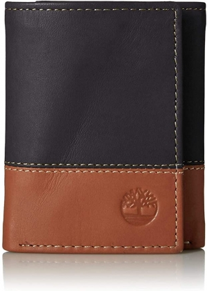 ihocon: Timberland Mens Leather Trifold Wallet With ID Window 男士三折皮夾
