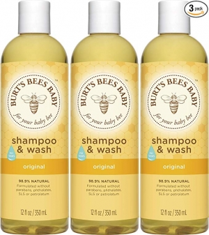 ihocon: Burt's Bees Baby Bee Shampoo & Wash, 12 Fluid Ounces (Pack of 3) 小蜜蜂洗髮精/沐浴乳