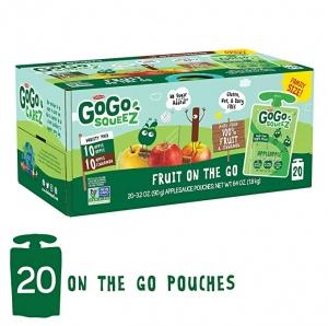 ihocon: GoGo squeeZ Applesauce on the Go, Variety Pack (Apple Apple/Apple Cinnamon), 3.2 Ounce (20 Pouches)