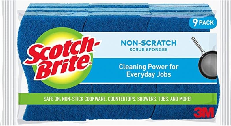 ihocon: Scotch-Brite Non-Scratch Scrub Sponges, 9 Scrub Sponges 清潔海綿