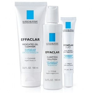 ihocon: La Roche-Posay Effaclar Dermatological Acne Treatment 3-Step System with Medicated Gel Cleanser, Clarifying Solution and Effaclar Duo, 2-Month Supply  - 三步驟青春痘治療套裝