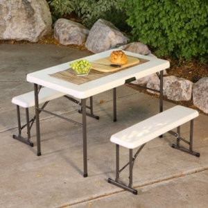 ihocon: Lifetime Folding Picnic Table with Benches野餐折疊桌椅
