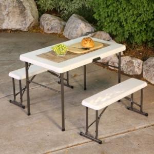 Lifetime 折疊野餐桌椅 $59.98(原價$118.98)
