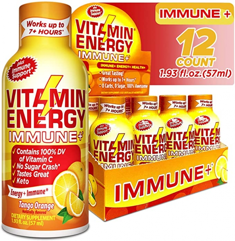 ihocon: Vitamin Energy Shots – Energy Lasts up to 7+ Hours*, Supports Immune Health, (12 Pack) 強化免疫力