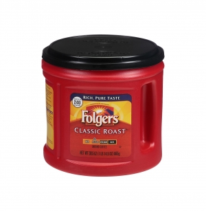 ihocon: Folgers Classic Roast Ground Coffee, Medium Roast, 30.5 oz. Canister 研磨咖啡