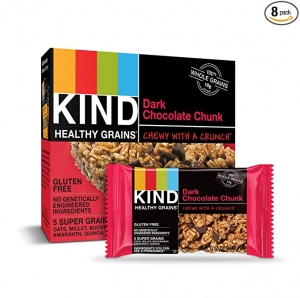 ihocon: KIND Healthy Grains Bars, Dark Chocolate Chunk, Gluten Free, 1.2 oz, 5 Count (8 Pack) 無麩質健康黑巧克力穀物點心棒