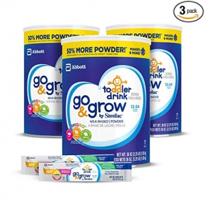 ihocon: Go & Grow by Similac Milk Based Toddler Drink, (Pack Of 3) 36oz cans + 2 On-The-Go Stickpacks 幼兒奶粉 3罐及2包隨身包