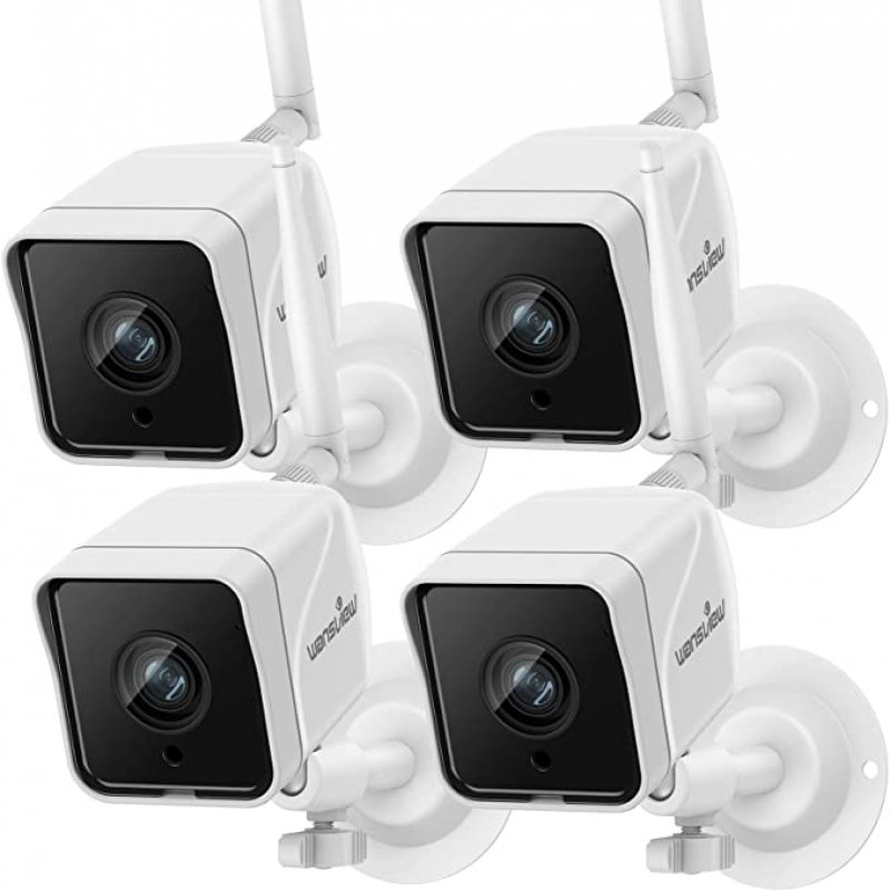 ihocon: Wansview W6 1080p Wireless WiFi IP66 Waterproof Surveillance Home Camera with Motion Detection, 2-Way Audio 居家安全室外監視鏡頭4個