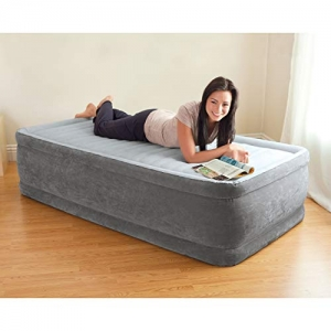 ihocon: Intex Comfort Plush Elevated Dura-Beam Airbed with Internal Electric Pump, Bed Height 18 空氣床墊, 內建打氣幫浦