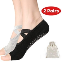 ihocon: UMODE Non Slip Yoga Socks for Women 無趾防滑瑜珈襪2雙