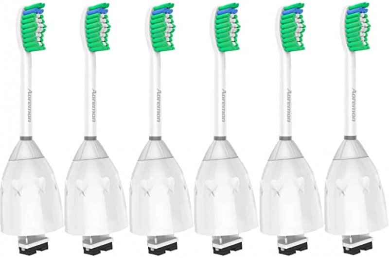 ihocon: Aoremon Replacement Toothbrush Heads for Philips Sonicare E-Series電動牙刷替換牙刷頭 6支(飛利浦適用)