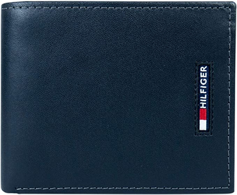 ihocon: Tommy Hilfiger Men's Leather Wallet-Bifold with RFID Blocking Protection  男士皮夾
