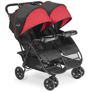 ihocon: Kolcraft Cloud Plus Lightweight Double Stroller -5-Point Safety System, 3-Tier Extended Canopy for UV Protection 輕型雙人嬰兒車