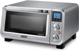 ihocon: De'Longhi Livenza Compact 1800W Countertop Convection Toaster Oven, 9 Presets Roast, Broil, Bake, Easy to Use, 14L (.5 cu ft), Stainless Steel, EO141150M 不銹鋼小烤箱