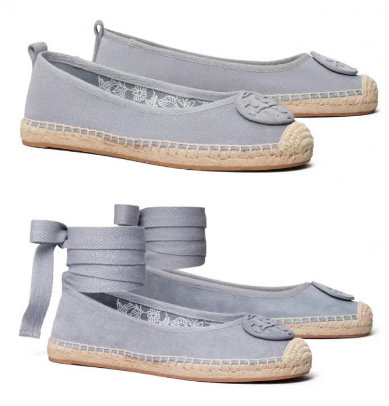 ihocon: TORY BURCH Minnie Ballet Espadrille 芭蕾平底帆布鞋