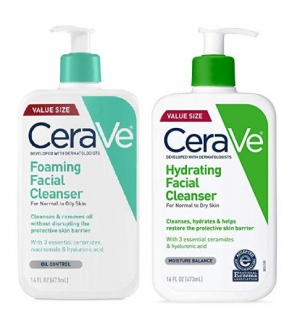 ihocon: CeraVe Foaming Facial Cleanser | 16 Fl Oz | Daily Face Wash for Oily Skin | Fragrance Free 無香精泡沫洗面乳(油性肌膚)