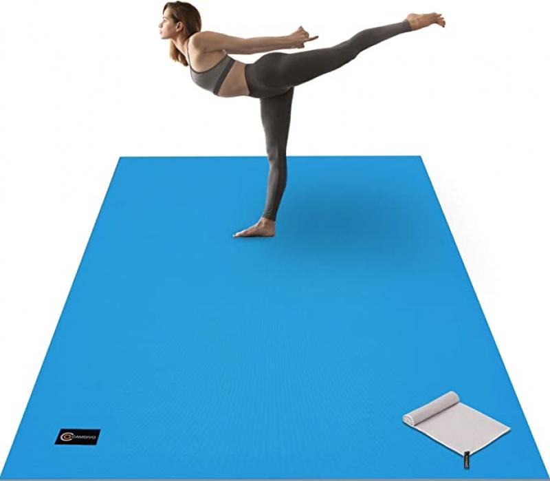 ihocon: CAMBIVO Large Yoga Mat 6'x 4'x 8 mm (72x 48) 大型運動地墊